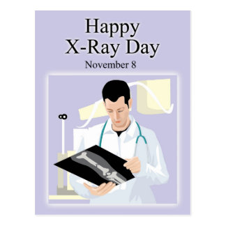 Postal Radiografía día 8 de noviembre feliz