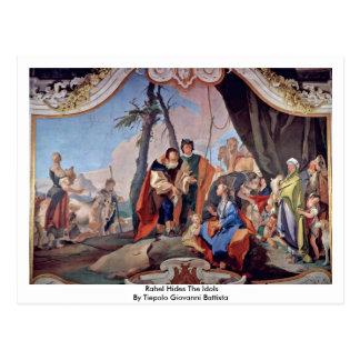 Postal Rahel oculta los ídolos de Tiepolo Juan Battista