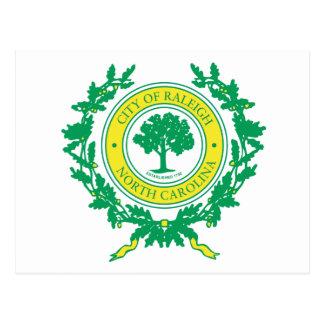 Postal Raleigh, sello de Carolina del Norte