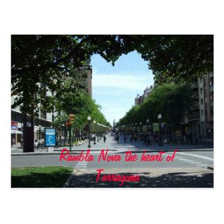 Postal Rambla Nova el corazón de Tarr…