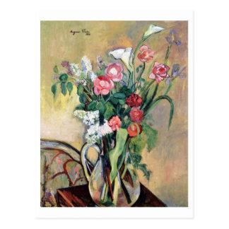 Postal Ramo de flores de Suzanne Valadon