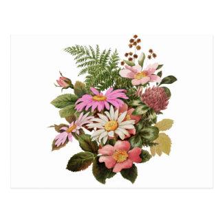 Postal ramo de la flor