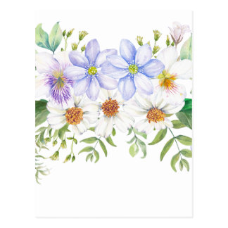 Postal Ramo floral del campo