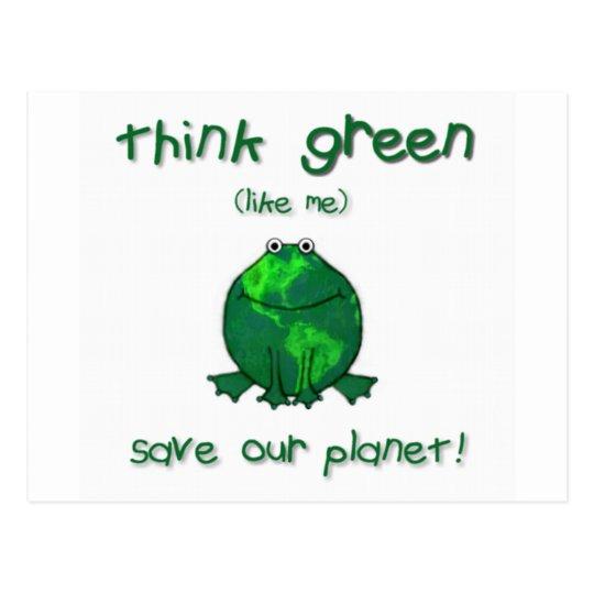 Postal Rana ambiental del Día de la Tierra