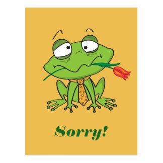 Postal Rana de disculpa