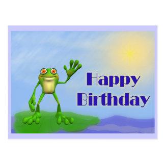 Postal Rana del feliz cumpleaños