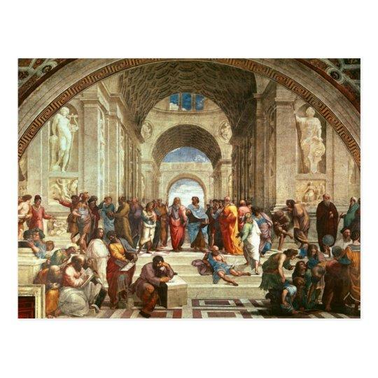 Postal Raphael - Escuela de Atenas