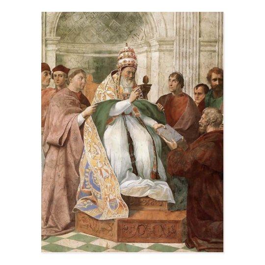 Postal Raphael: Gregorio IX que aprueba el Decretals