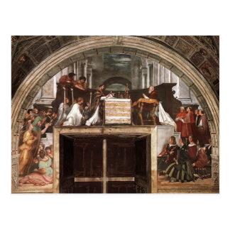 Postal Raphael: Masa de Bolsena, del dell'Eliodor de la