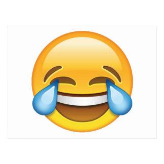 Postal Rasgones gritadores de risa del emoji de la