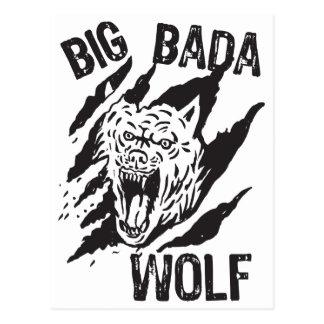 Postal Rasguños grandes de la pata del lobo de Bada