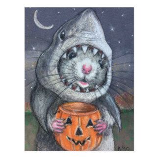 Postal Rata en los kmcoriginals de Halloween del traje