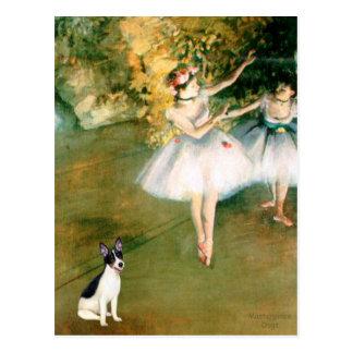 Postal Rata Terrier - dos bailarines