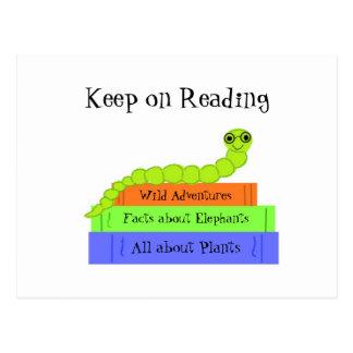 Postal Ratón de biblioteca - guarde en la lectura