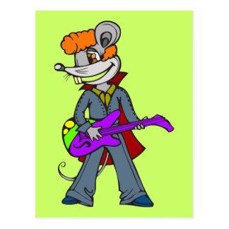 Postal Ratón de la estrella del rock