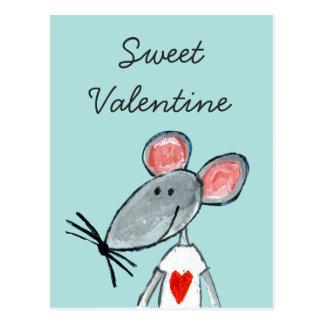 Postal Ratón del amor