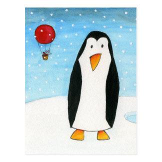 Postal Ratón y pingüino #2 del globo