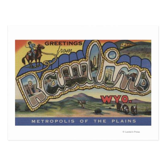 Postal Rawlins, Wyoming - escenas grandes de la letra