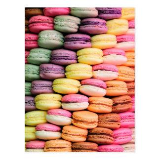 Postal Raya del arco iris de las galletas apiladas de