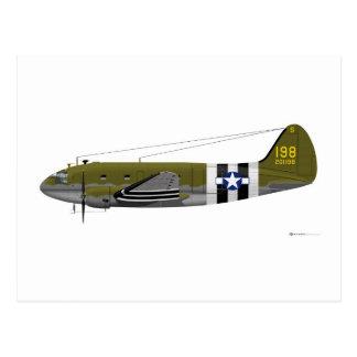 Postal Rayas de la invasión del comando de Curtiss C-46