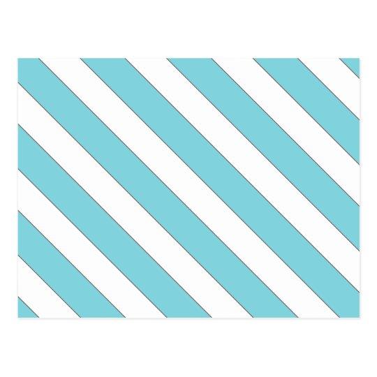 Postal rayas diagonales azules claras
