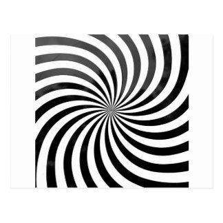 Postal rayas negras y blancas del engaño óptico