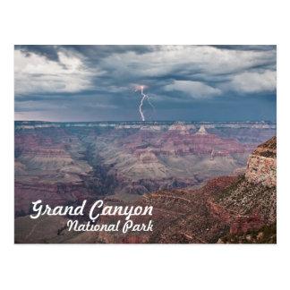 Postal Rayo del parque nacional del Gran Cañón