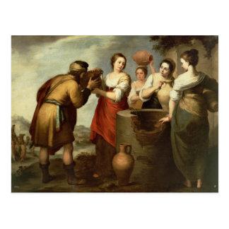 Postal Rebecca y Eliezer en bien, c.1665