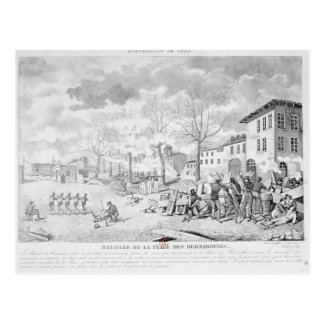 Postal Rebelión de los trabajadores de seda de Lyon