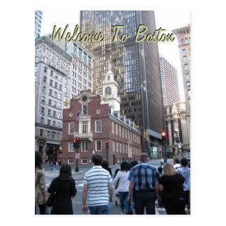 Postal Recepción a Boston