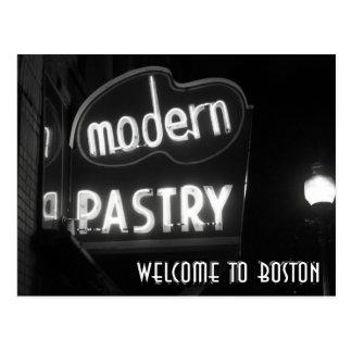 Postal Recepción a Boston - neón noir