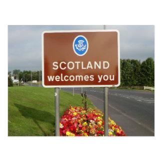 Postal Recepción a Escocia - muestra de frontera