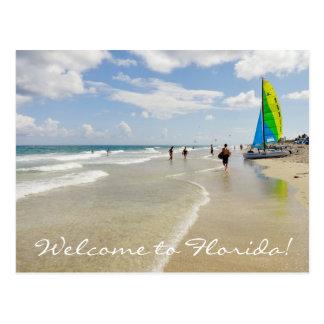 Postal Recepción a la Florida/al océano y a la playa