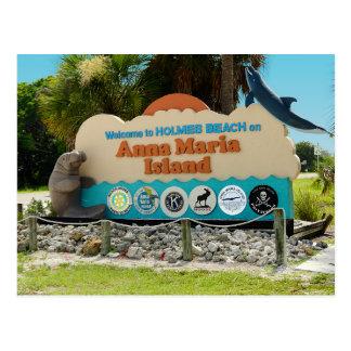 Postal Recepción a la muestra de la isla de Ana Maria