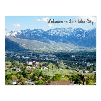 Postal Recepción a Salt Lake City