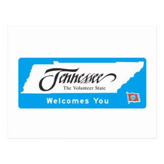 Postal Recepción señal de tráfico de Tennessee - los