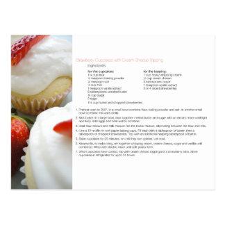 Postal Receta de las magdalenas de la fresa