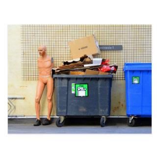 Postal Reciclaje de la cartulina en Copenhague
