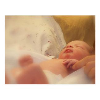 postal recién nacida del bebé