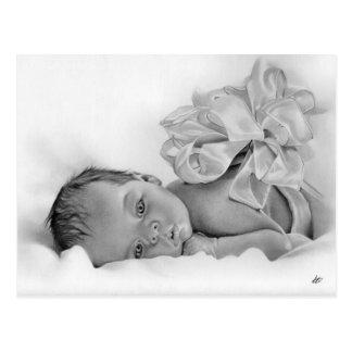 Postal recién nacida del regalo del bebé