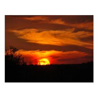 Postal Recordatorio de la puesta del sol