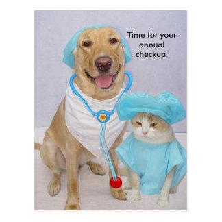 Postal Recordatorio del chequeo del veterinario