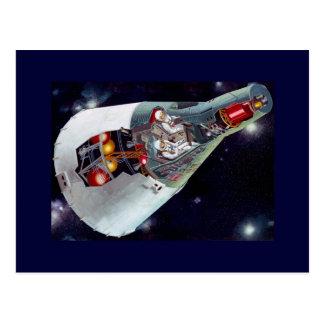 Postal Recorte de la nave espacial de los géminis