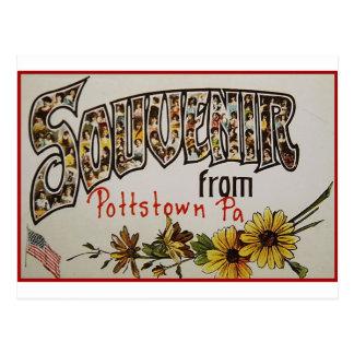 Postal Recuerdo de Pottstown Pennsylvania