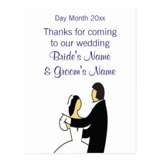 Postal Recuerdos del boda, regalos, sorteos para las