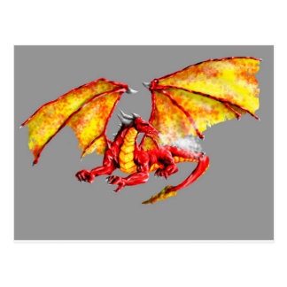 Postal Red dragón