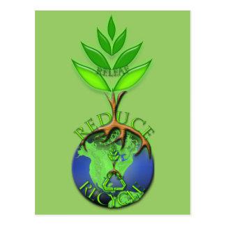 Postal Reduzca reciclan Releaf