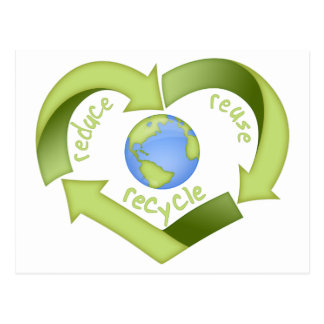 Postal Reduzca, reutilice, recicle