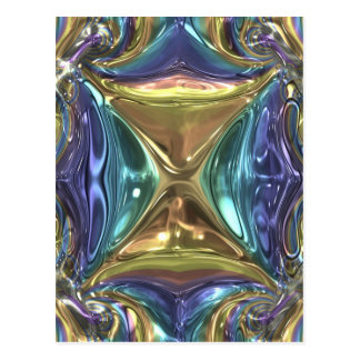 Postal Reflejo azul del oro