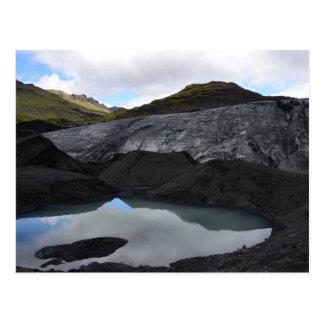 Postal Reflexión del glaciar, Islandia del sur